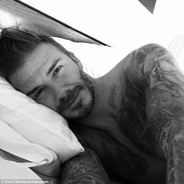 Good morning and hello! David Beckham has shared his first snap with Instagram followers as he prepared to celebrate his 40th birthday