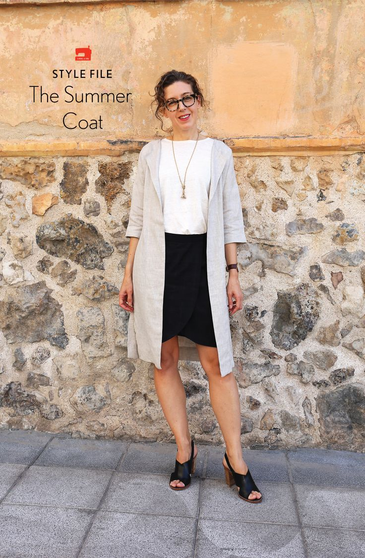 We bet you don't typically think of sewing a coat for summer. But Liesl is here to show you how to make a very lightweight one that can easily become part of your core wardrobe.