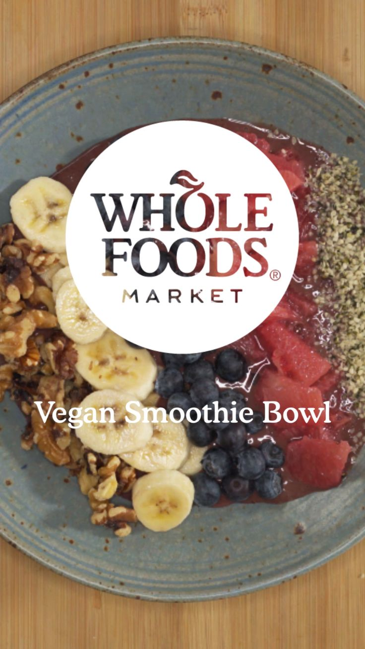 Feed Your Resolution: Vegan Smoothie Bowl // Rise and shine with a creamy base of antioxidant-rich acai and coconut yogurt topped with colorful flavorful fruits plus a sprinkle of nuts and seeds for crunch and protein. Whether you're pledged to a special diet or just want to try something new, we've got the recipes, tips and inspiration to fuel your path forward.
