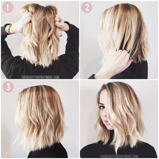 how to style lob hair best 25 wavy bob tutorial ideas on 7002