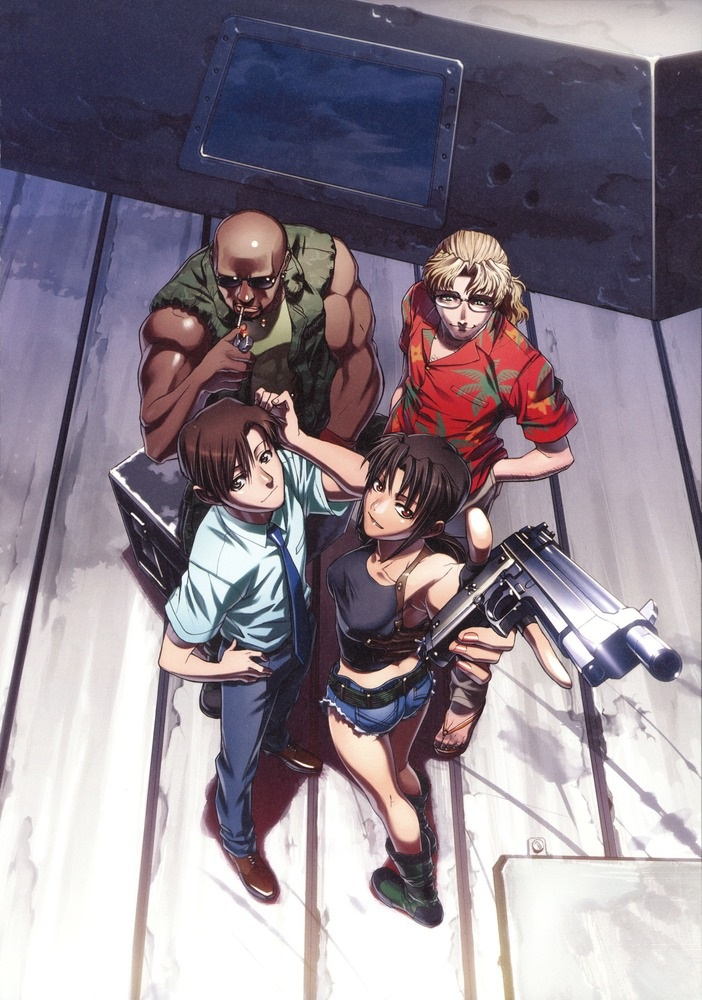 Black Lagoon: The Gang...Revy mouth is fowl like mine.