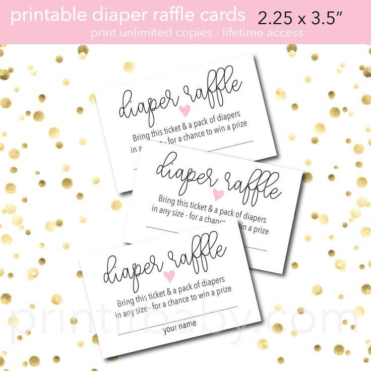 Diaper raffle wording