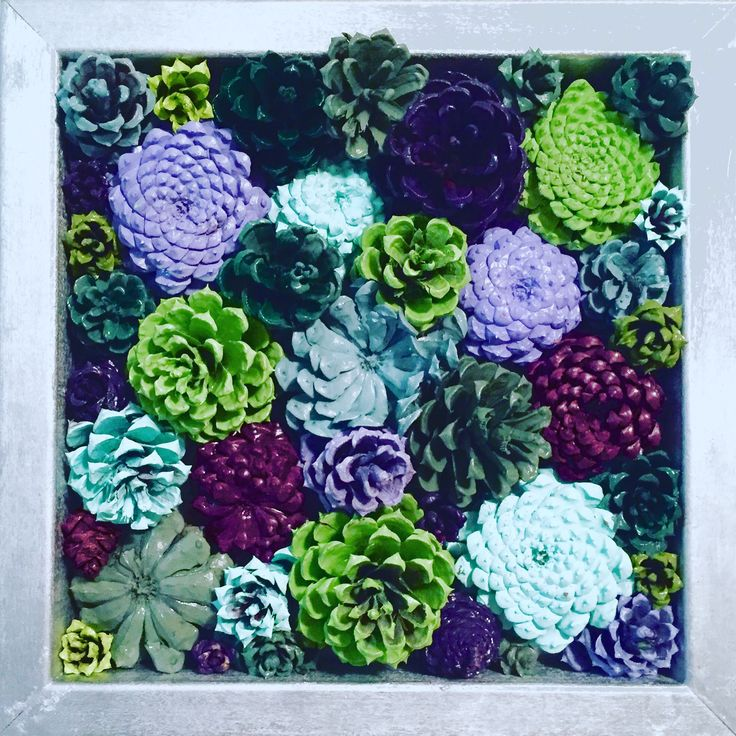 Faux Succulents made with painted pinecones!