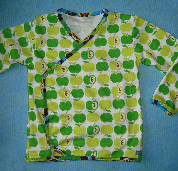 wikkelvest van appeltjes interlock van Hamburger Liebe - afgebiesd met zomer jersey van Gekko