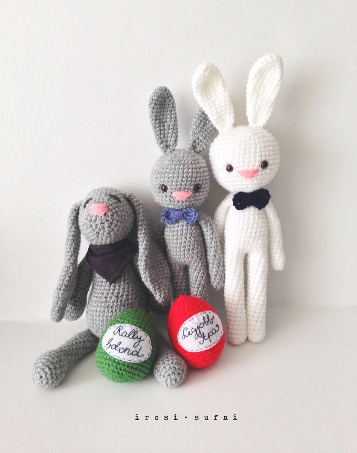 Easter bunnies #crochet #crochettoy #bunny #toy #easter