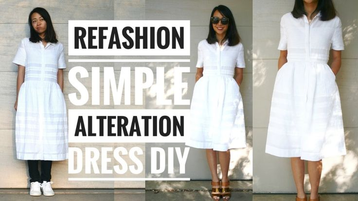 SIMPLE DRESS ALTERATION REFASHION DIY || How to Alter Your Own Clothes