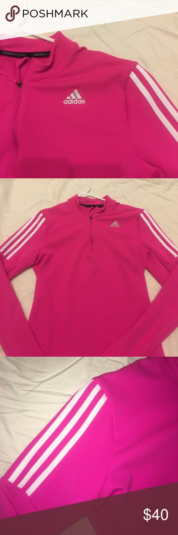 ADIDAS Zip Up Jacket Lightweight. Stretchy material. Worn once. No flaws. Perfect condition adidas Jackets & Coats