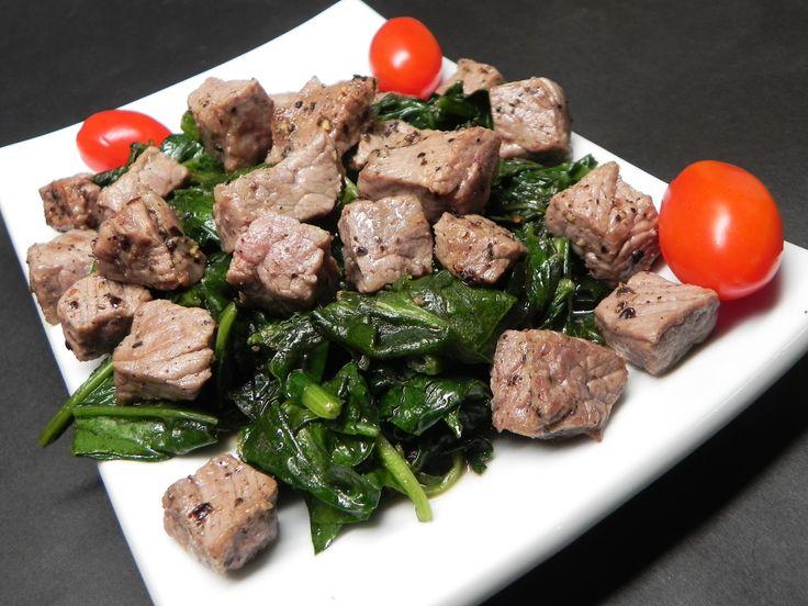 Kosher Wine and Pepper Steaks with Chard  #AllrecipesFaceless #MyAllrecipes #AllrecipesAllstars