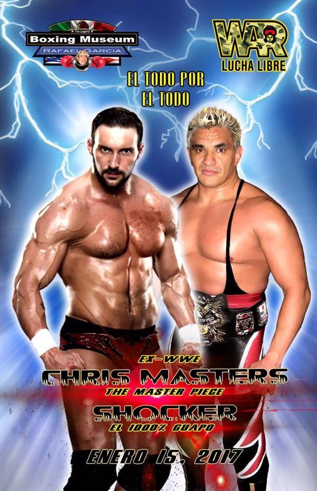 """Dos figuras de la lucha libre estarán en El Paso, Texas el domingo 15 de enero, Chris Masters y el 1000% guapo """"Shocker"""", en el Boys and Girls Club..."""
