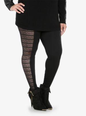Lace Inset Leggings
