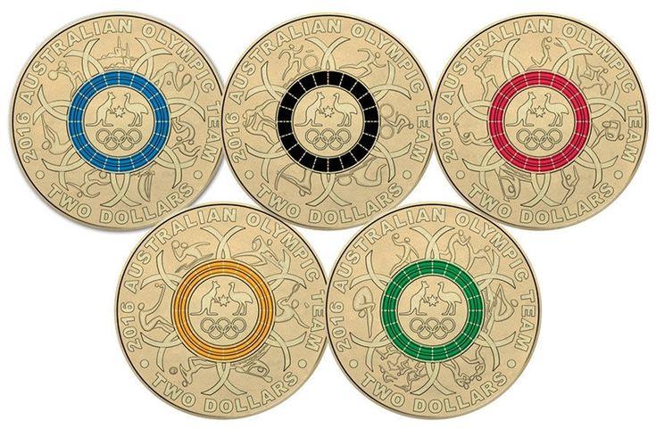 Rio 2016 Summer Olympics commemorative $2 coins | Team Australia