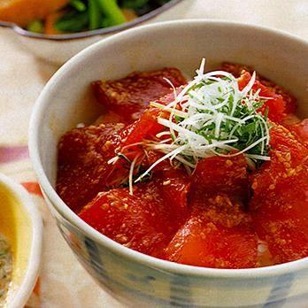 鉄火丼   川村由紀子さんのどんぶりの料理レシピ   プロの簡単料理レシピはレタスクラブニュース