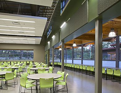 Cafeteria And Community Space At Pioneer Middle School In DuPont WA DLR Group