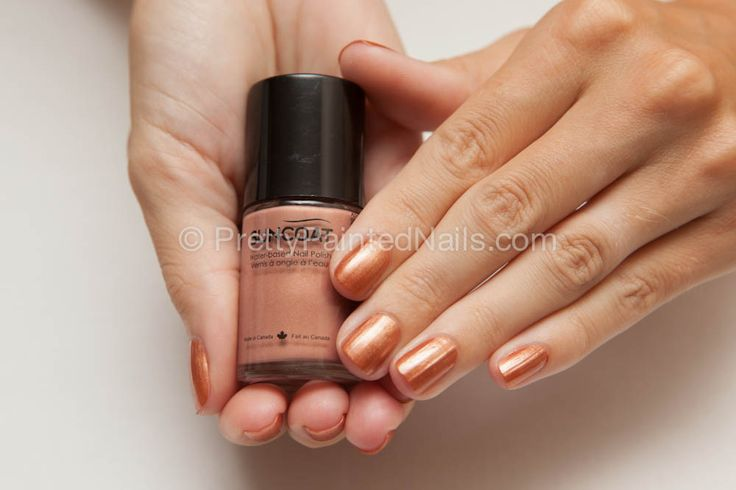 Suncoat Non Peel Off Water Based Nail Polish Swatch in Beige  http://prettypaintednails.com/reviews/suncoat-water-based-nail-polish-non-peel-off-beige/#