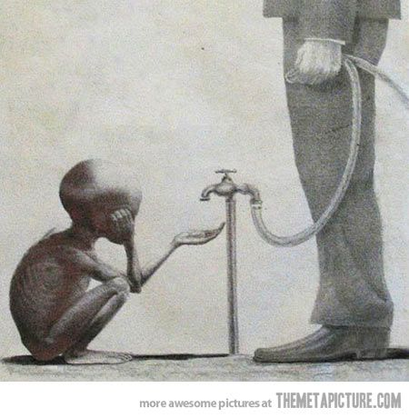 Ridiculously powerful picture…Google Nestle and their opinion on free access to clean water. They are SCUM bags!!