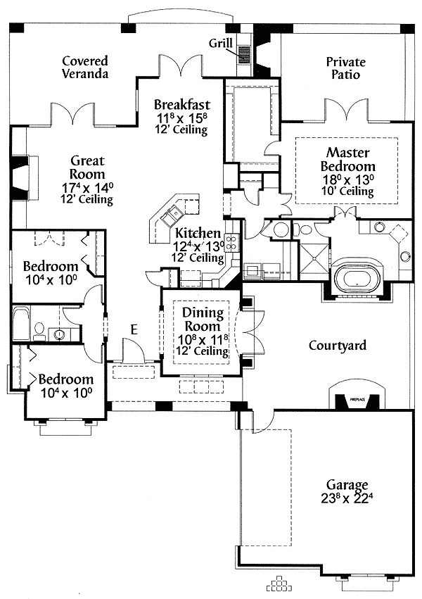 1000 images about z floor plans on pinterest house for Southwest house plans with courtyard