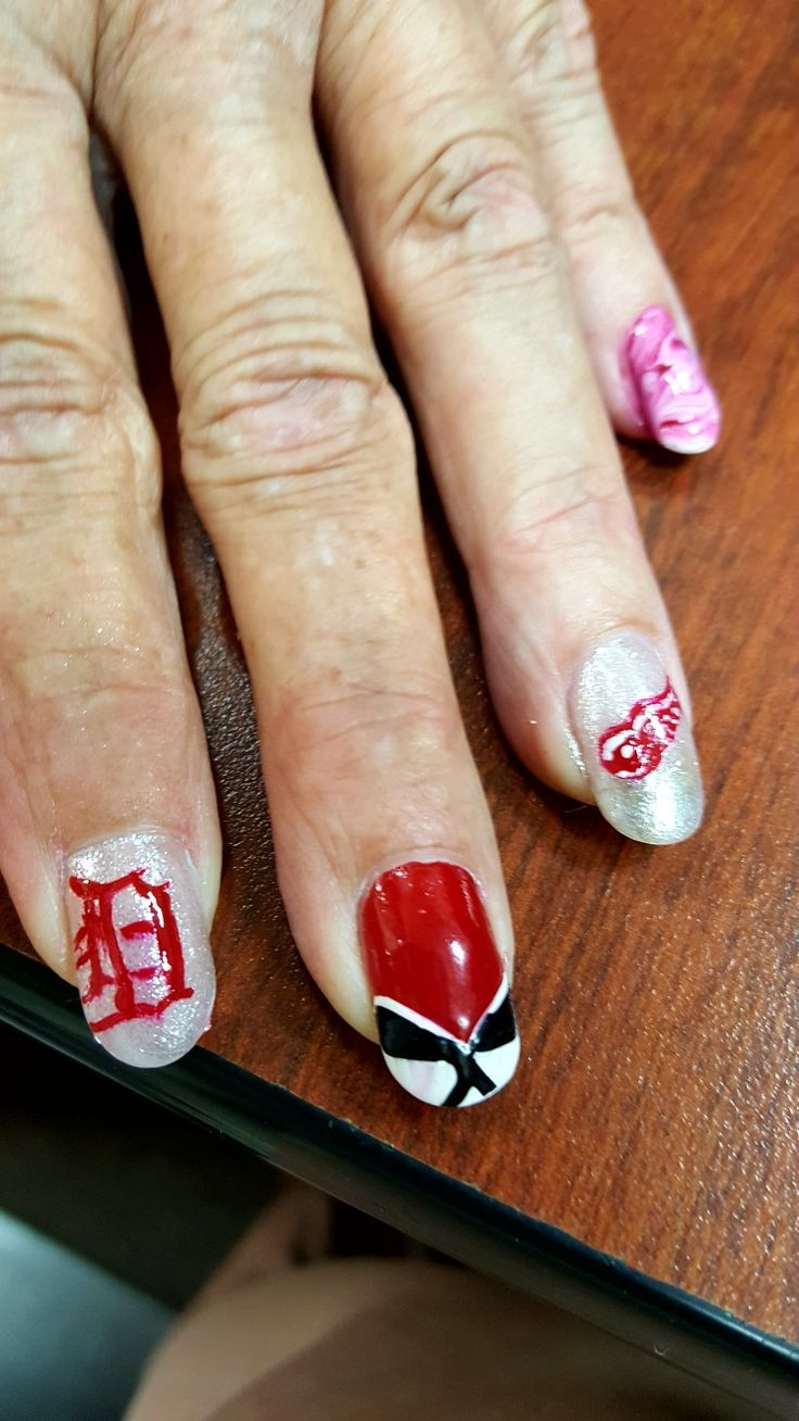 26 best detroit red wings nail art images on Pinterest | Detroit red ...