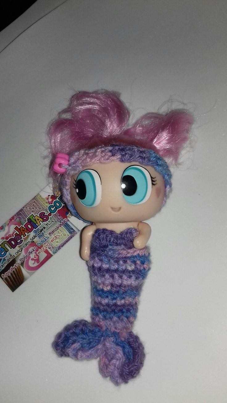 Pequeña Colita de sirena en crochet para Ksi meritos