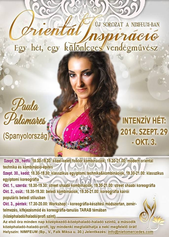 Orientál Inspiráció 1. Paula Palomares a Nimfeumban! www.nietomercedes.com