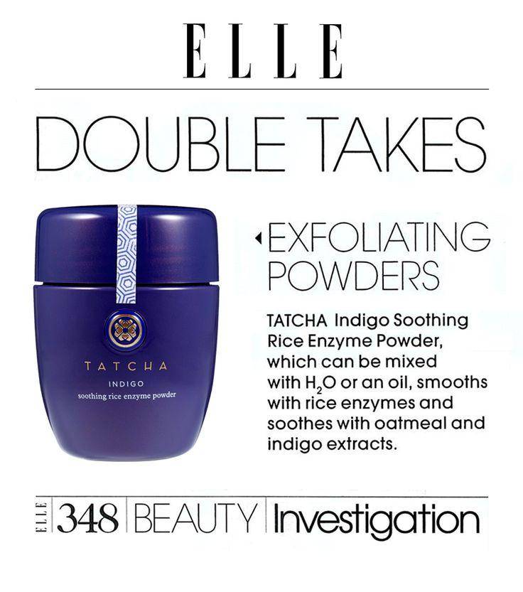 Exfoliator for Sensitive Skin   Indigo Enzyme Powder   Tatcha   Tatcha ~ feat in ELLE #Tatcha #Elle #agloriouslife