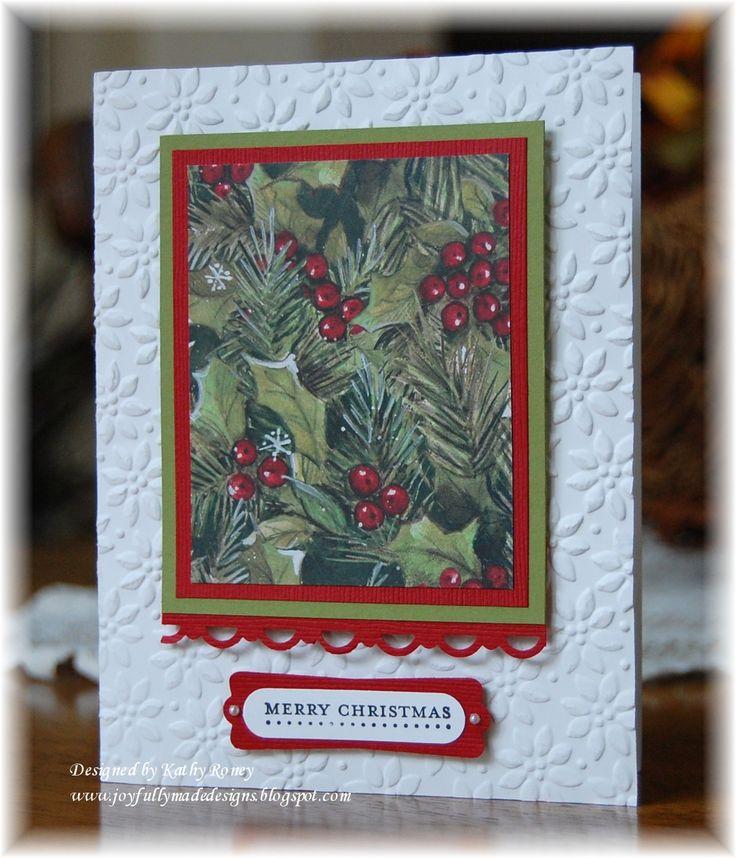 Joyfully Made Designs: Christmas One Sheet Wonder 8 x 8 - see blog