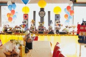 Head Table from a Transformers Birthday Party via Kara's Party Ideas   KarasPartyIdeas.com (10)