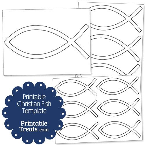 Printable Christian Fish Template from PrintableTreats.com