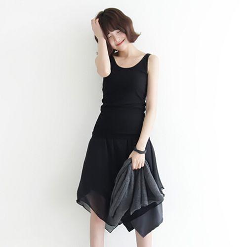 Korean [StyleGal] Easy Sleeve Long Sleeveless Shirt「koreabuys.com」