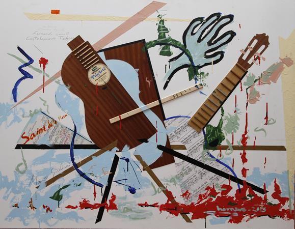 """""""Concierto para una guitarra olvidada"""" Acrílico / Sándwich aluminio 100 x 127 cm"""