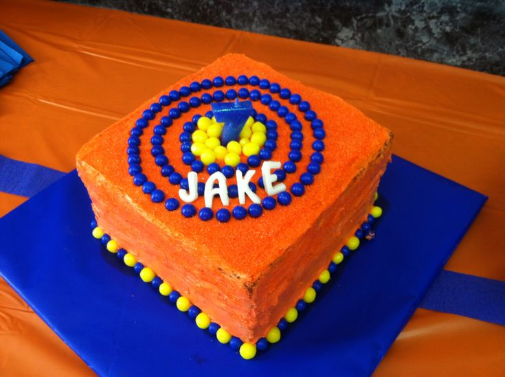 Nerf target birthday cake- Nerf or Nothing!!
