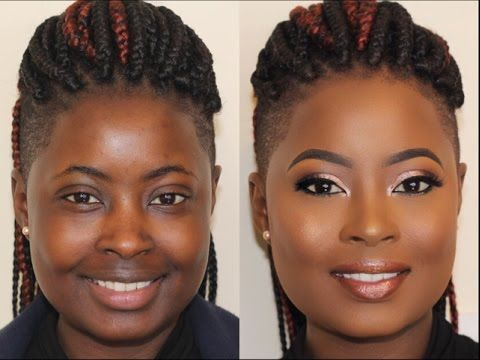 Chocolate Beat on Melanin Skin! | Makeup Transformation 8 | Poised by Suliat - YouTube