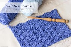 Here is a video with Easy instructions on how to crochet the Solid Shell Stitch! Click the image to see the video!