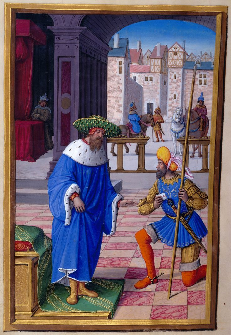 David and Uriah | Hours of Henry VIII, in Latin | Illuminated by Jean Poyer | France, Tours | ca. 1500 | The Morgan Library & Museum
