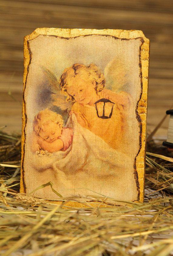 Fresco Guardian Angel  orthodox catholic gift for by Europeanicons