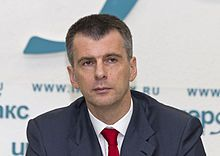 Elections : the richest politicians in the global village MIKHAIL PROKHOROV , RUSSIA