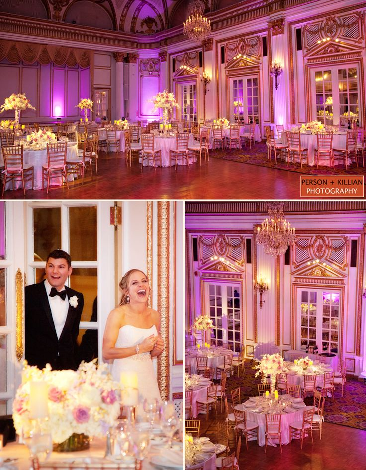 Beautiful lighting in the Grand Ballroom sets the tone for an elegant evening! #wedding #reception #venue Photographed by @Person + Killian Photography.