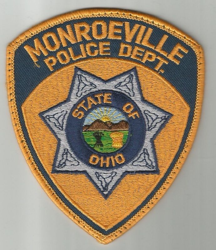 Us State Of Ohio City Of Monroeville Police Department Patch Police Patches Police Badge Police
