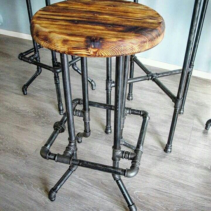 Pipe bar stool