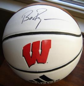 """UW Badgers Basketball Autographed by Coach Bo Ryan"""