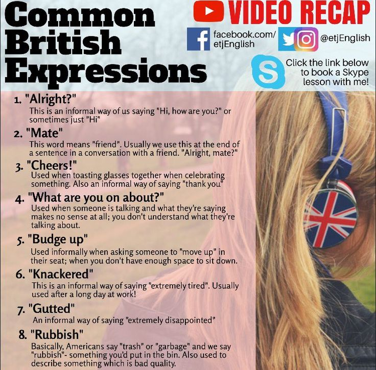 Common British Expressions