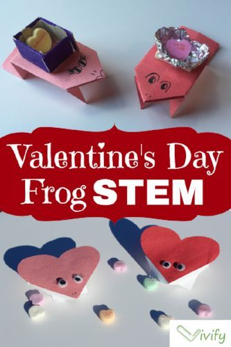 It's almost Valentine's Day and my kids are already plotting how to deliver those special messages to the ones they love! As a STEM educator, a valentine delivery must be more than dropping heart shaped paper into handmade mailboxes. So, we made a Valentine's Day candy delivery STEM challenge using frogs - origami frogs that is!