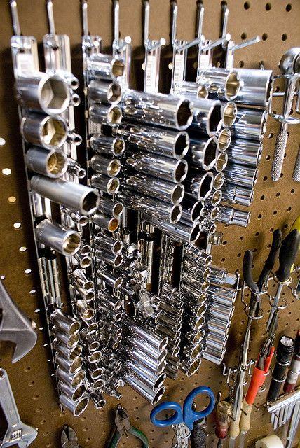 17 best images about garage ideas on pinterest welding for Socket organizer ideas