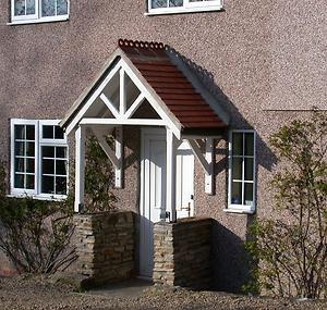 PRIMED! Timber Porch Door Canopy Roof - TOP QUALITY! - 1200mm - Hampton | eBay