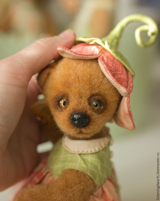 Teddy Bears handmade. Order teddy bear chloe, designer toy, plush. Aleksandra Kulikova (listeningdwarfs). Livemaster. Bear, hollofayber #teddy #bear #teddybear #handmade #artdoll #ooakteddy #toy #bunny #teddybunny #rabbit #teddyrabbit #motherday