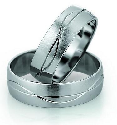 Trauringe Auckland Weissgoldring, in 333 Damenring mit 1 Diamanten, 0,0055 kt, Farbe: w, Reinheit: si, Ringbreite: 6,0 mm, Ringhöhe: 1,0 mm,