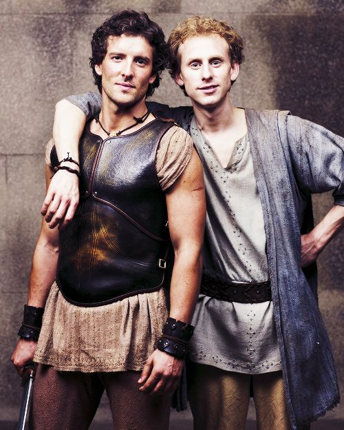 Jason (Jack Donnelly) and Pythagoras (Robert Emms). Atlantis BBC. Oh Jack Donnelly, you play Jason so well.