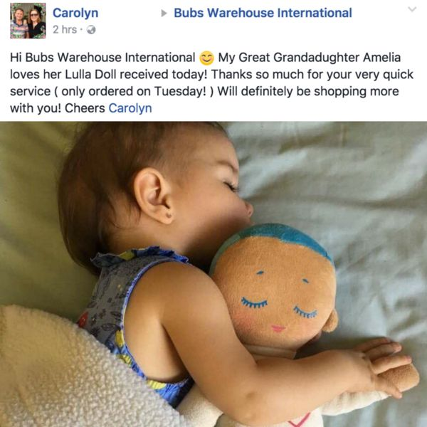 The Lulla Doll is a sleep companion for babies from preemies to toddlers.It is the result of many years of scientific research.