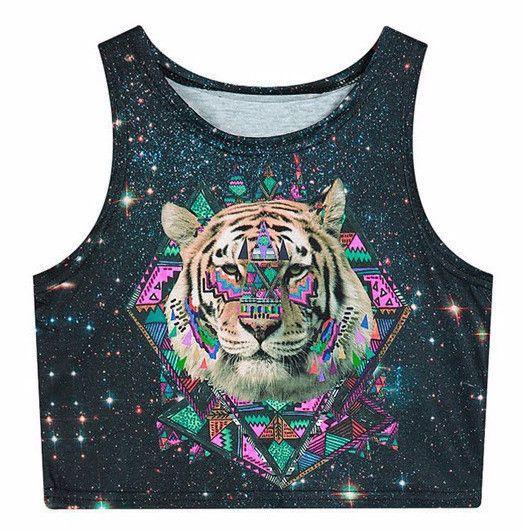 Space Tiger Crop Top