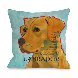 Labrador Pillow Blue now featured on Fab.