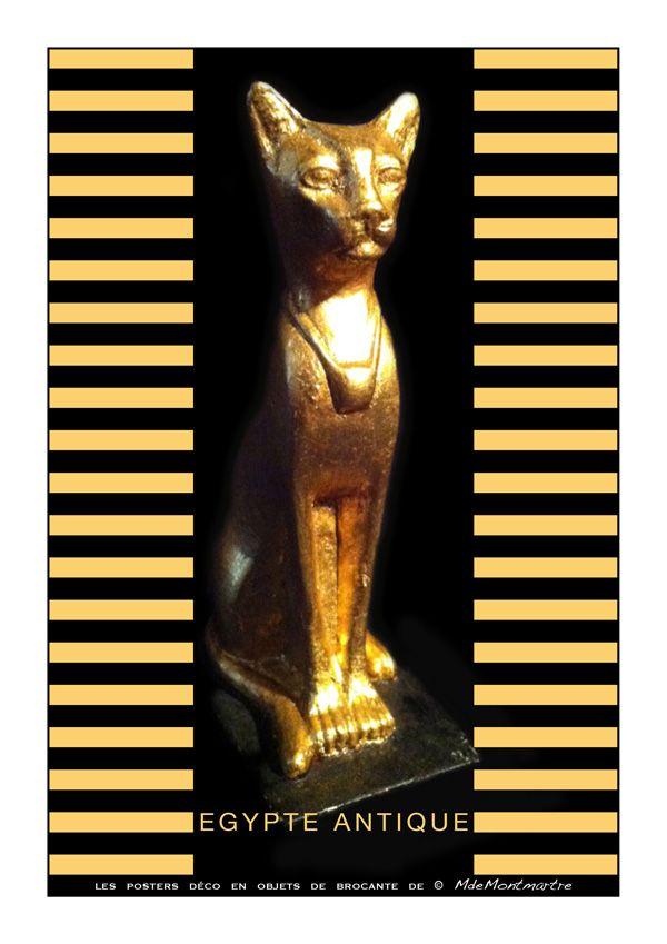"""Illustrations en objets de récupération.: POSTER """"Egypte antique"""""""